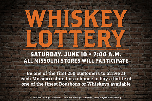 Total Wine & More - Whiskey Lottery in MO, June 2017