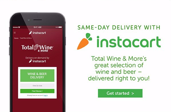 Total Wine & More - Instacart Delivery, June 2016