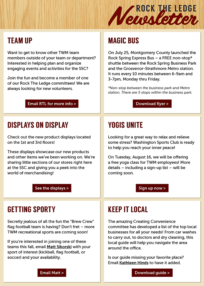 Total Wine & More - Corporate Newsletter Layout, 2017