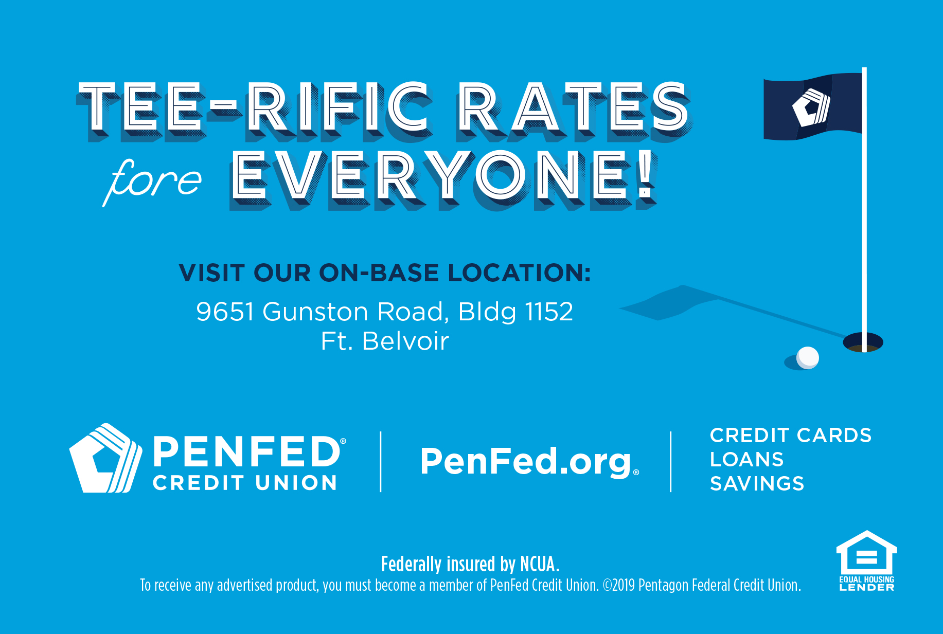 PenFed Credit Union – Tee-Riffic Rates at Fort Belvoir